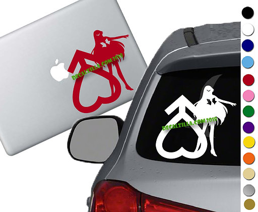 Sailor Moon- Sailor Mars - Vinyl Decal Sticker - For cars, laptops, and more!