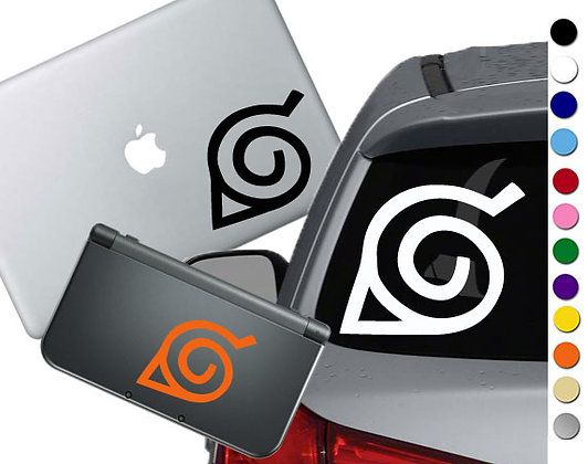 Naruto Hidden Leaf - Vinyl Decal Sticker For cars, laptops, and more!