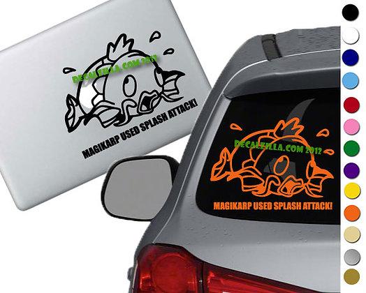 Pokemon - Magikarp Used Splash Attack - Vinyl Decal Sticker - For cars and more!