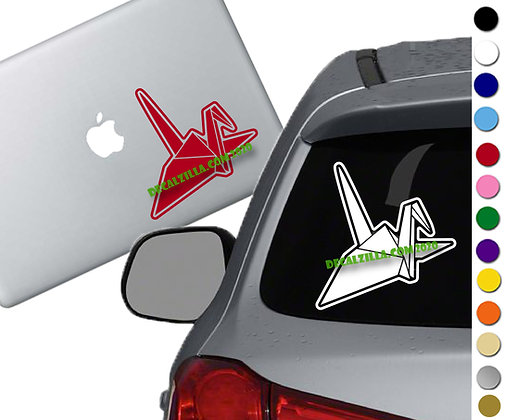 Origami Crane - Vinyl Decal Sticker - For cars, laptops, and more!