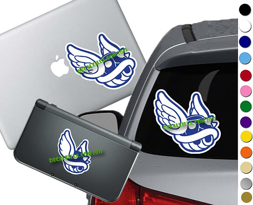 Mario - Blue Shell on White - Vinyl Decal Sticker For cars, laptops, and more!