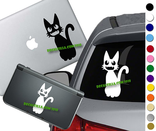 Kiki's Delivery Service Jiji- Vinyl Decal Sticker For cars, laptops, and more!