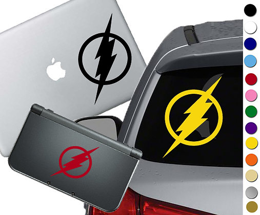 The Flash Symbol -  Vinyl Decal Sticker For cars, laptops, and more!