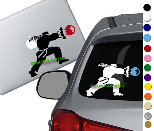 Street Fighter Ryu - Vinyl Decal Sticker - For cars, laptops, and more!
