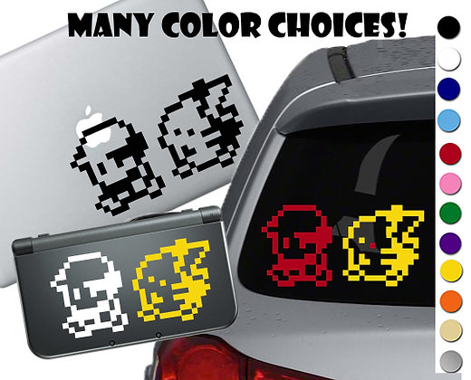 Pokemon - Red and Pikachu - Vinyl Decal Sticker For cars, laptops, and more!