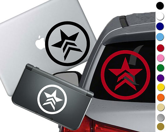 """Sale! 1.5"""" Mass Effect Renegade  -Mini Vinyl Decal Sticker For laptops and more!"""