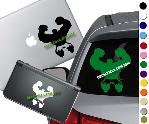 Hulk Silhouette - Vinyl Decal Sticker For cars, laptops, and more!