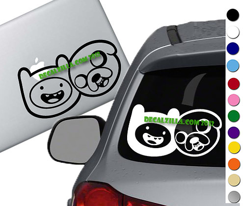 Adventure Time - Finn and Jake - Vinyl Decal Sticker - For cars and more!