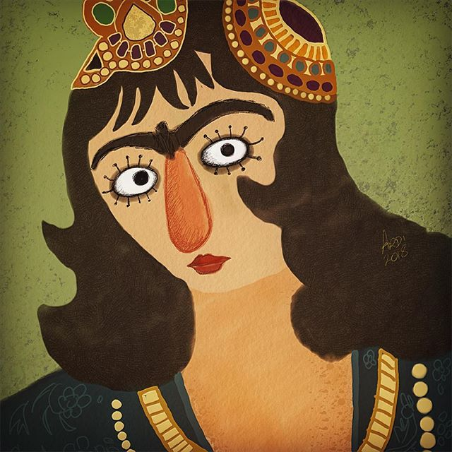 #Qajar #painting #digitalpainting #digit