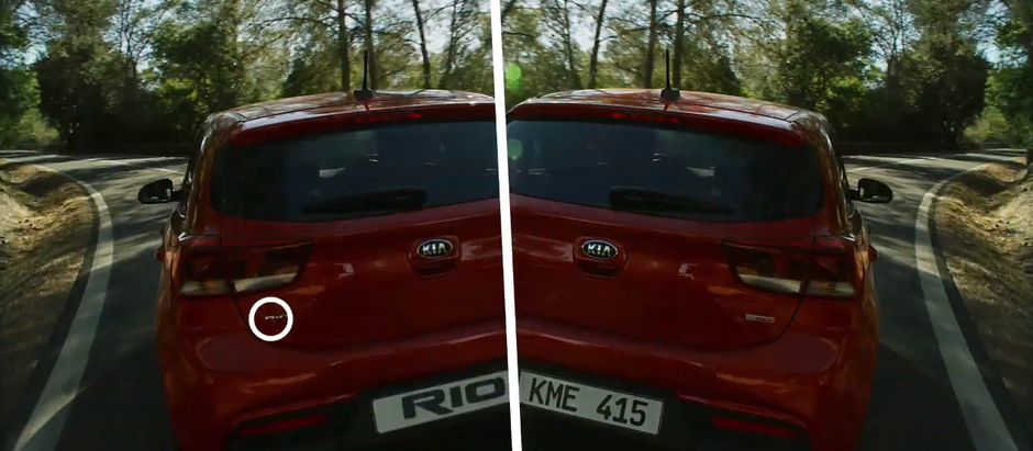 Kia Motora RIO TV commercial Invisible VFX