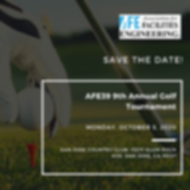 AFE39 Golf Tournament 2020 SAVE THE DATE