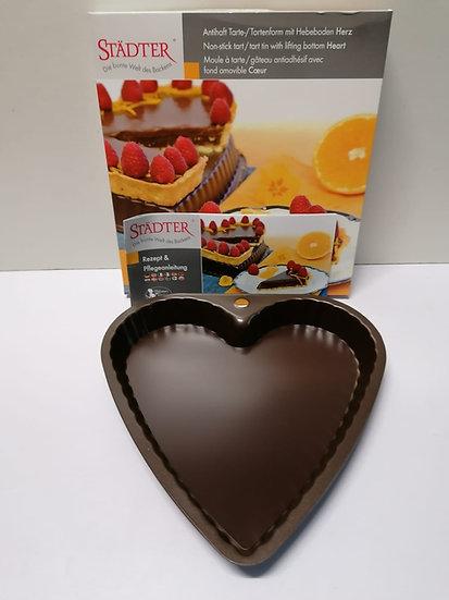 Tortenform / Tarteform mit Hebeboden Herz