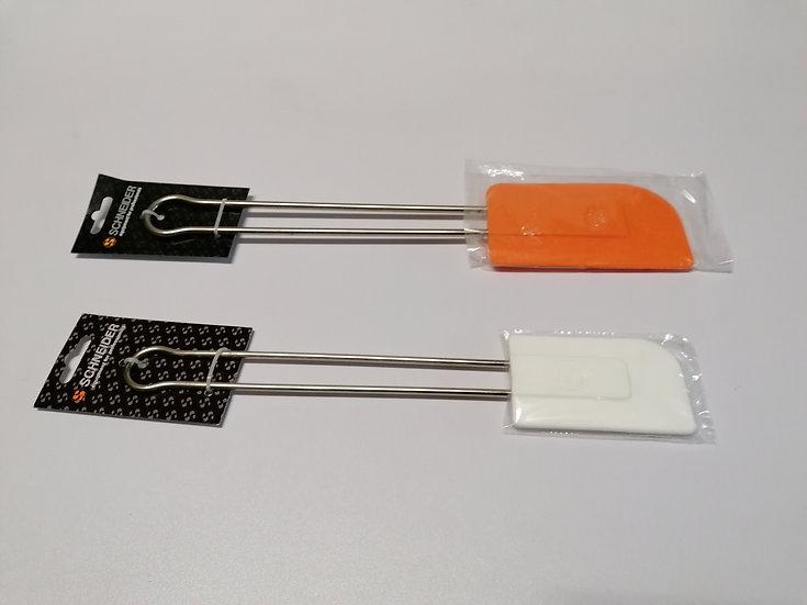 Teigschaber Silikon mit Edelstahlgriff