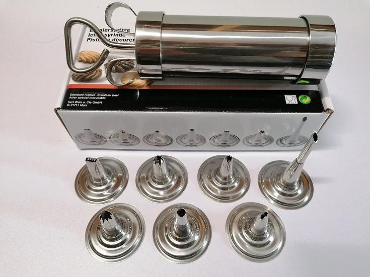 Premium Garnierspritze Edelstahl