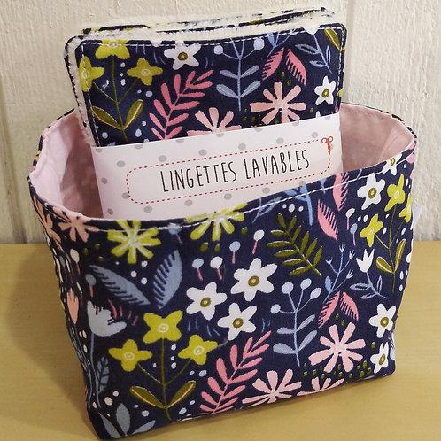 Vide poches + lingettes fleurettes
