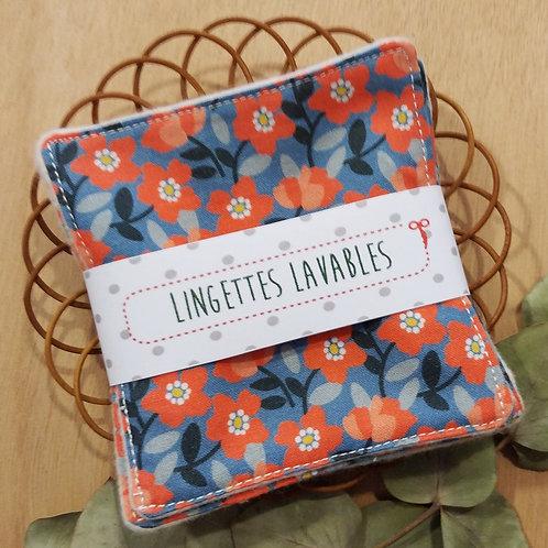 Copie de Lingettes lavables fleurs