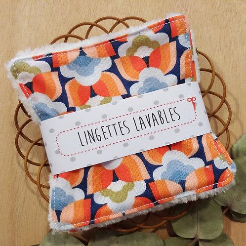 Lingettes lavables fleurs vintage