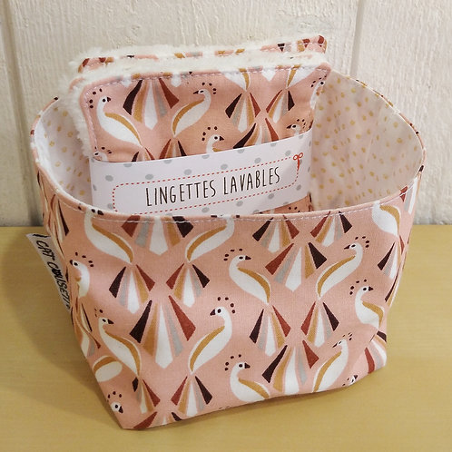 Vide poches + lingettes paons