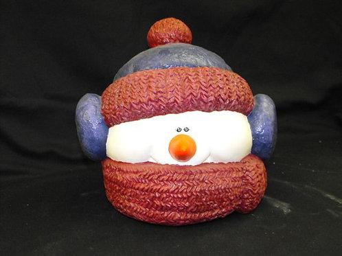 Snowman Cookie Jar - Glazed inside