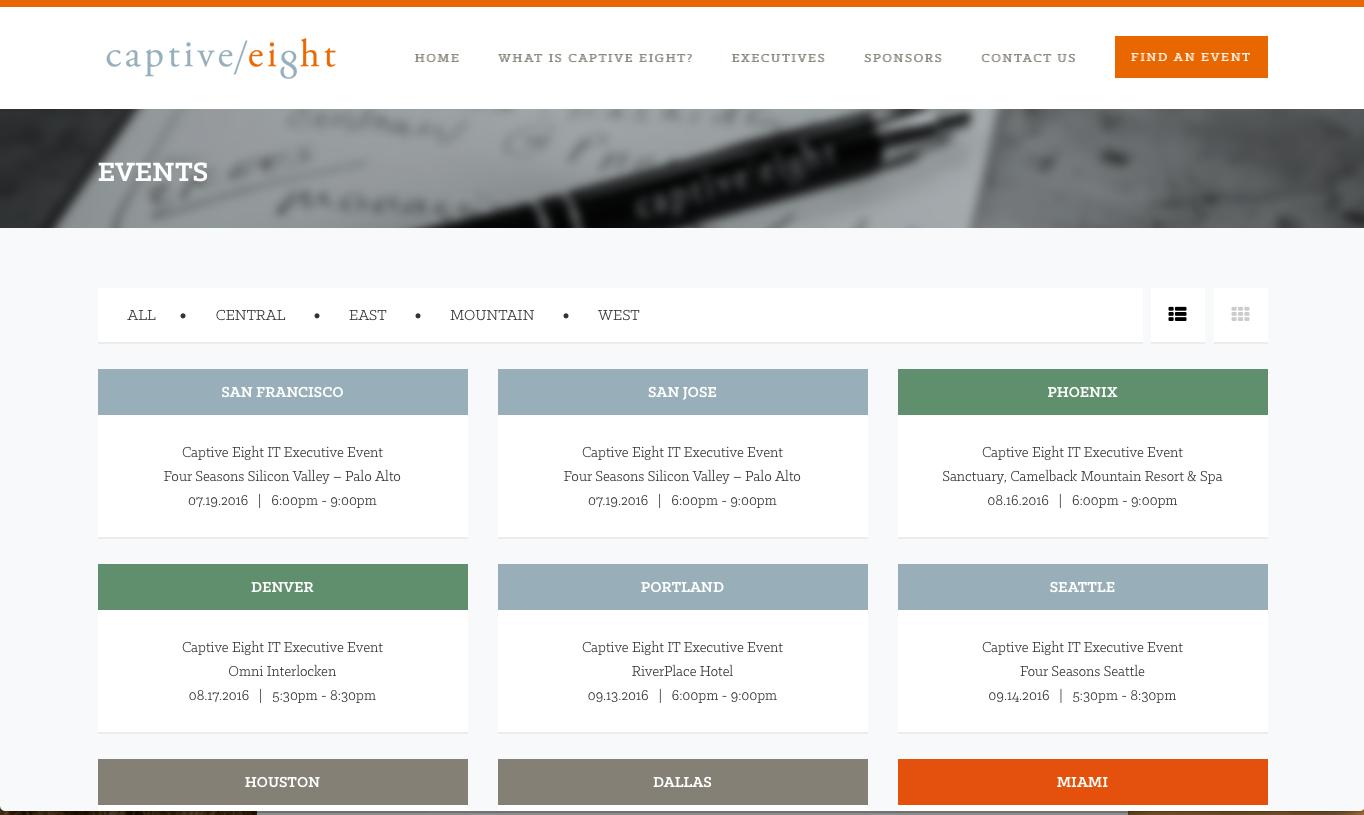 Captive Eight Website