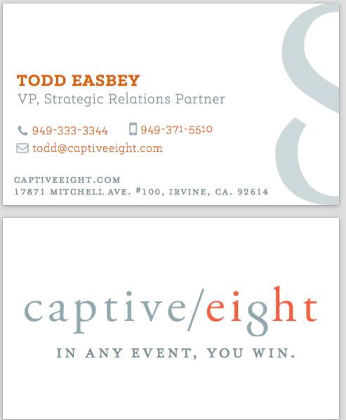 Captive Eight Business Card