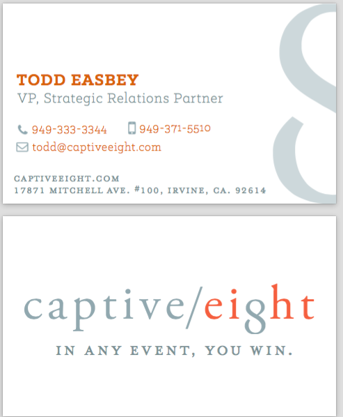 Captive Eight Business Cards