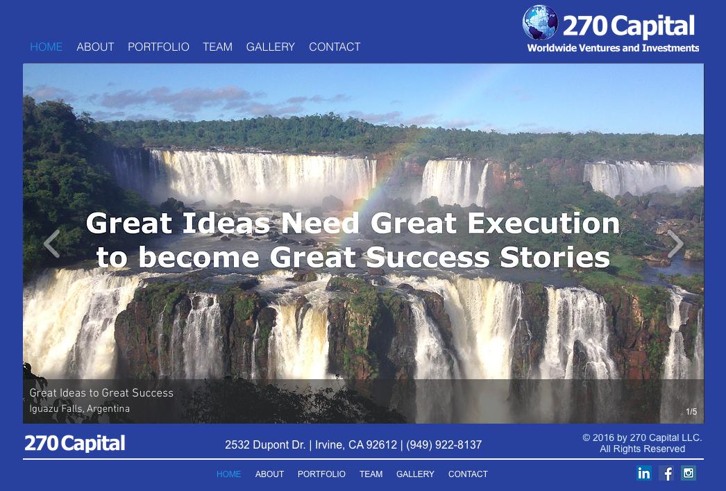 270 Capital Website