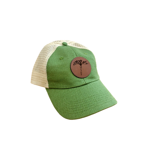 Mesh Back Trucker Hat with Leather Carrot Patch