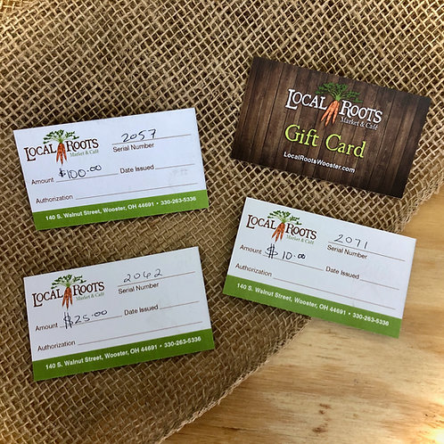 Local Roots Gift Certificate