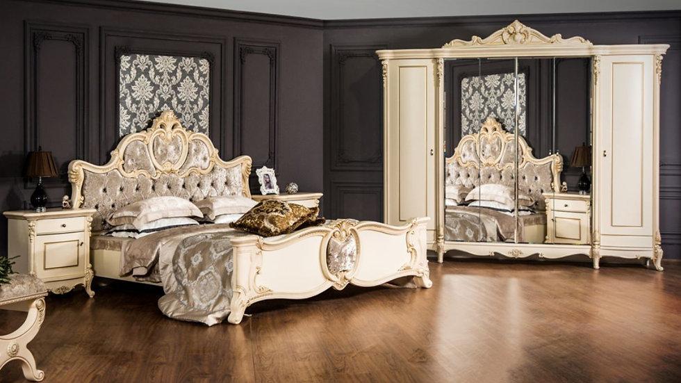 """Мебель для спальни """"ЛОРЕНА"""" /крем глянец/"""