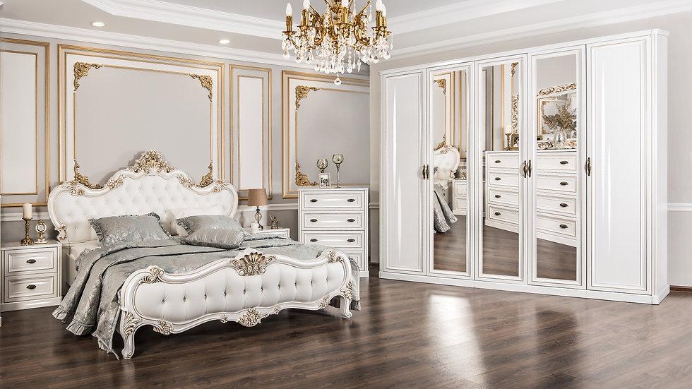 """Мебель для спальни """"НАТАЛИ"""" /белый глянец/"""