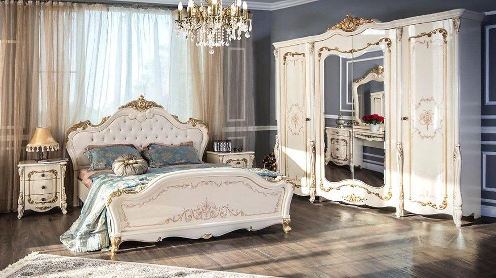 """Мебель для спальни """"ЭНРИКЕ"""" /крем глянец/"""