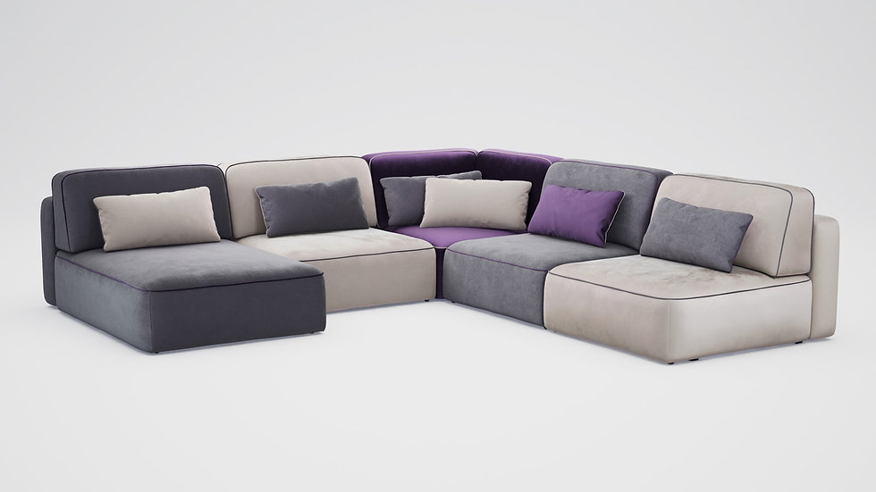 """Модульный угловой диван-кровать """"MOON 008"""""""