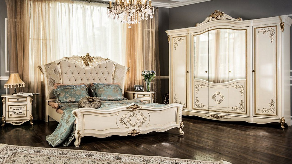 """Мебель для спальни """"ОЛИВИЯ"""" /крем глянец/"""