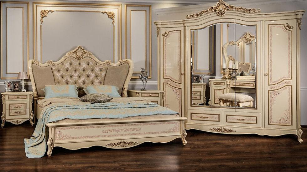 """Мебель для спальни """"ПРАГА"""" /крем глянец/"""