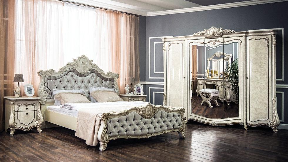 """Мебель для спальни """"МАРСЕЛЛА"""" /крем корень глянец/"""