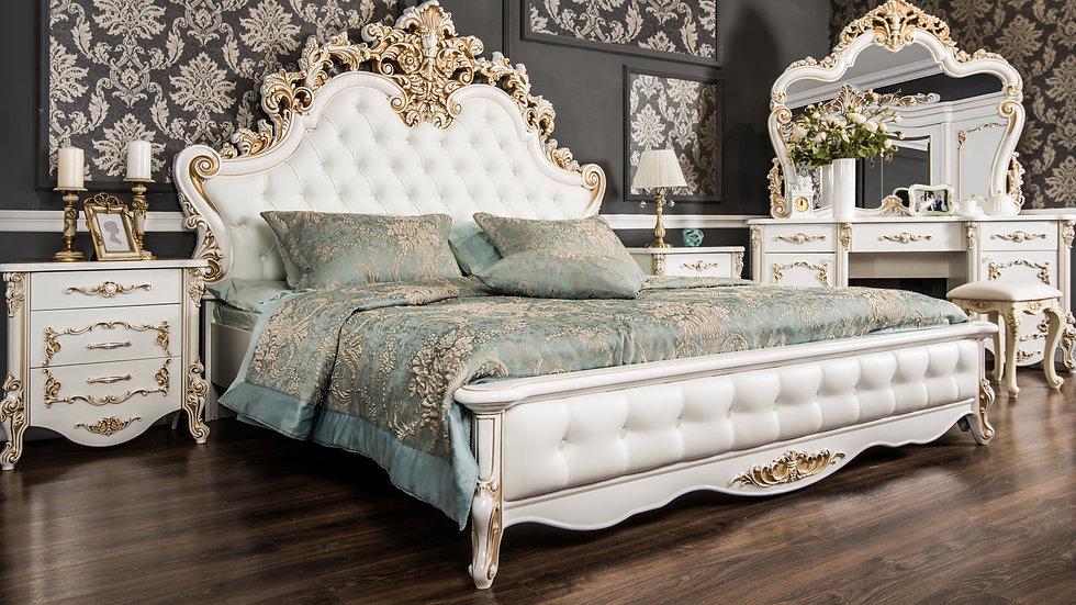 """Мебель для спальни """"ФЛОРЕНЦИЯ"""" /белый перламутр глянец/"""