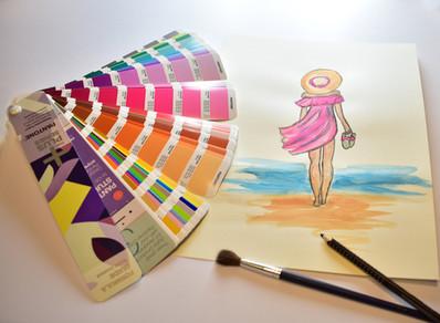 Farben und Zeichnungen