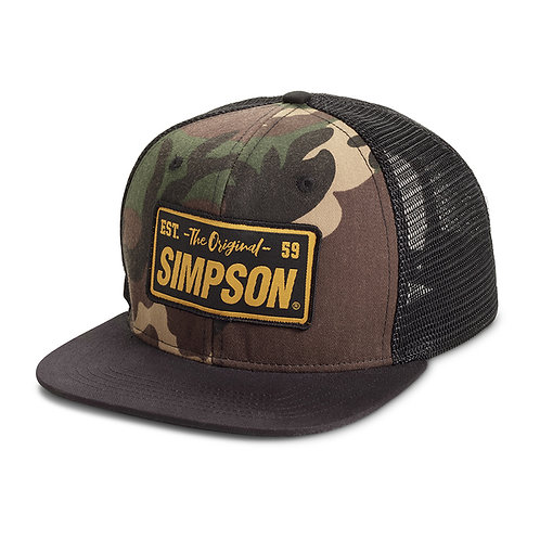 Simpson Racing Camo Flat Bill Hat