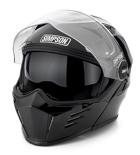 SIMPSON CARBON FIBRE MOD BANDIT MOTORCYCLE HELMET
