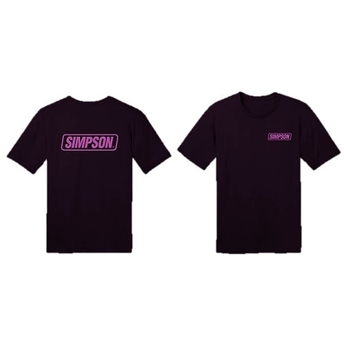 Simpson Racing Pink Logo Tee
