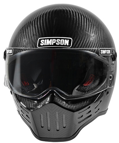 SIMPSON CARBON FIBRE M30 MOTORCYCLE HELMET