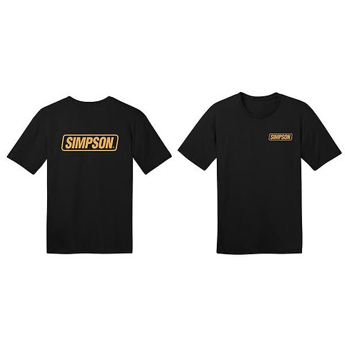 Simpson Racing Gold Logo Tee