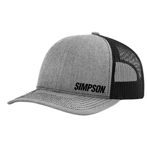 Simpson Racing Ashen Grey Snap Back