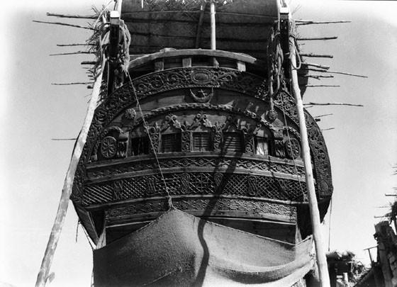 Ornate dhow stern