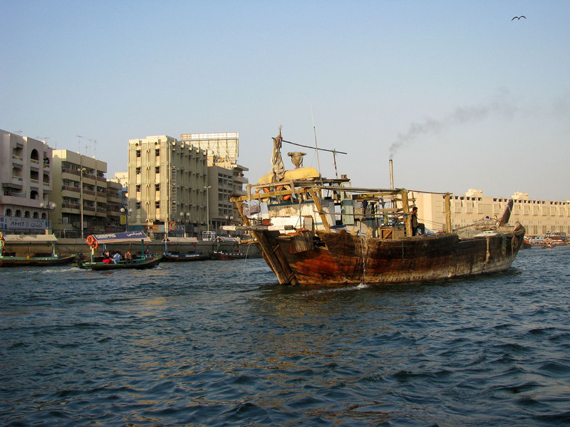 Dhow at work