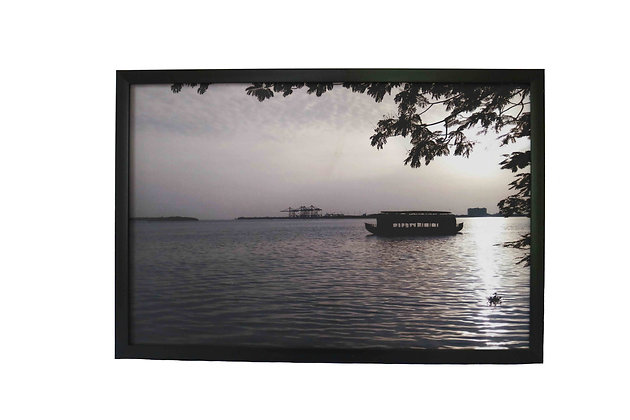 Shikara ride on marine bay Cochi (Coated Frame)