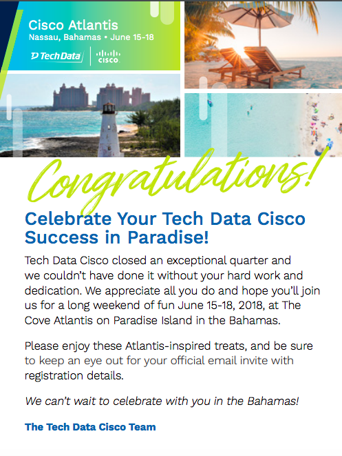 Tech Data Cisco Desk Drop Card