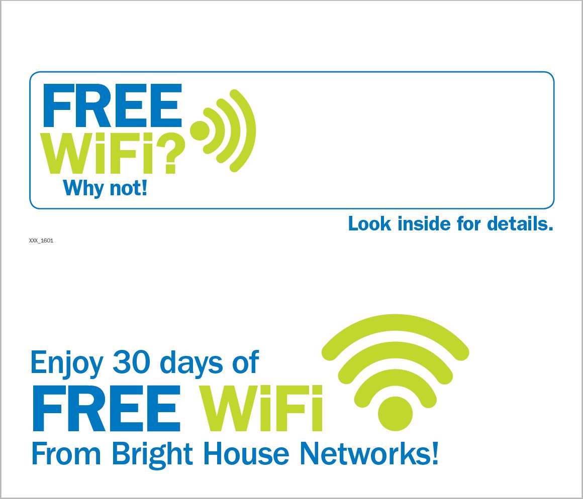 Free WiFi Offer Direct Mail