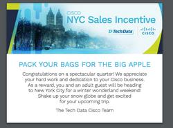 Tech Data Cisco Desk Drop - NYC Trip